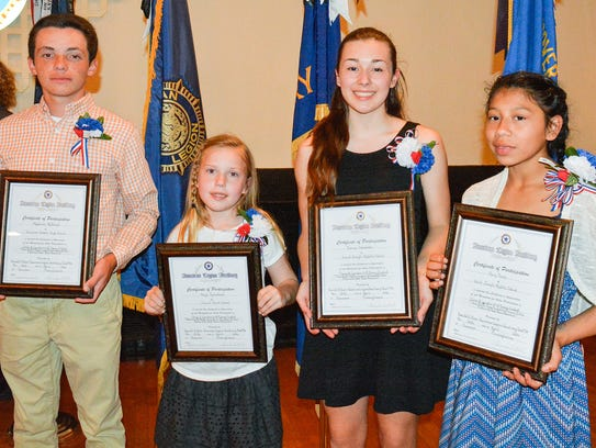 Auxiliary Unit 14 2016 Americanism Essay winners, from