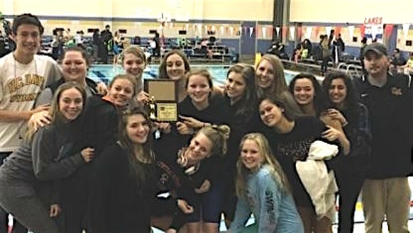 Central Kitsap's girls swim team placed second on Saturday