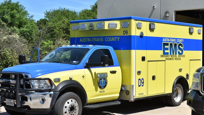 An Austin-Travis County EMS ambulance stands at the ready last week in a garage of the Lake Travis Fire Rescue headquarters on Pheasant Lane.
