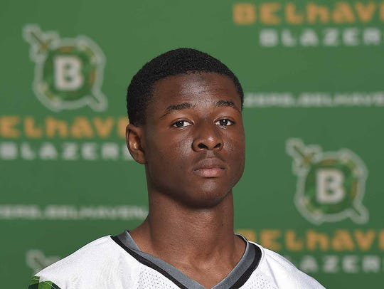 Isaiah Swopes of Belhaven is the school's nominee for