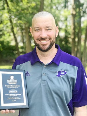 Pittsburg High School theatre teacher Greg Shaw was recently recognized with the International Thespian Society Spirit of Thespis Award. - COURTESY PHOTO
