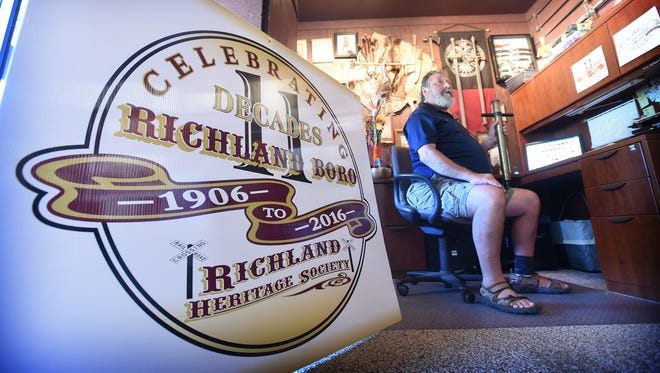 Gary Althouse, president of the Richland Heritage Society, is enthusiastic about being part of the celebration that will mark the 110th anniversary of Richland Borough.