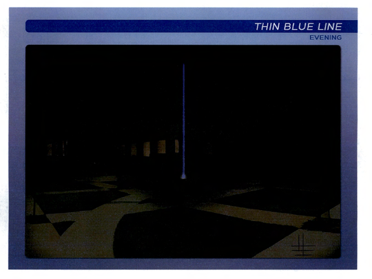 Concept art for the night view of a proposed public art project that was approved by the Moorpark City Council in July.