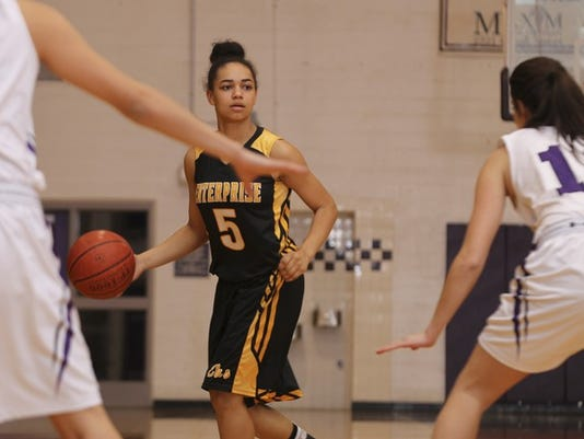 Photo by Greg Barnette/Record Searchlight Enterprise's Kamira Sanders was named to the MaxPreps all-state squad.