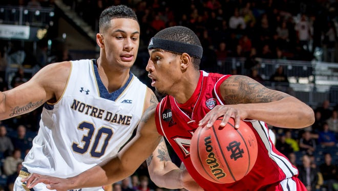 Northern Illinois guard Darrell Bowie, right, plans to join Iowa State as a graduate transfer next season, a source close to the team says.