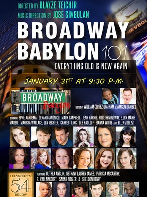 "Broadway Babylon 101: Everything Old Is New Again"" will take place Jan. 31 at Feinstein's/54 Below."