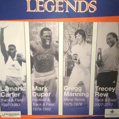 Lamark Carter, Mark Duper, Gregg Manning and Trecey Rew-Hoover spoke as part of this year's Legends panel.