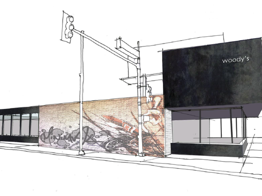 A rendering of the north elevation of the new Macayo's
