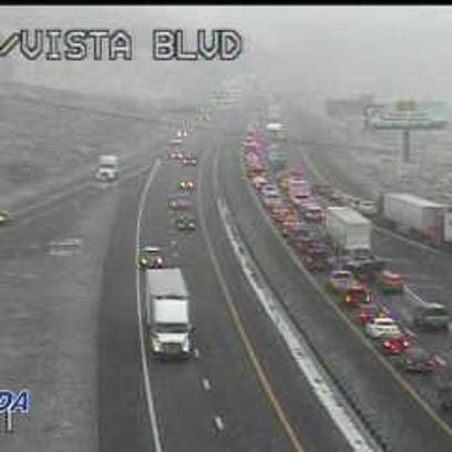 8 people injured in 15-20 car crash on I-80, other crashes reported