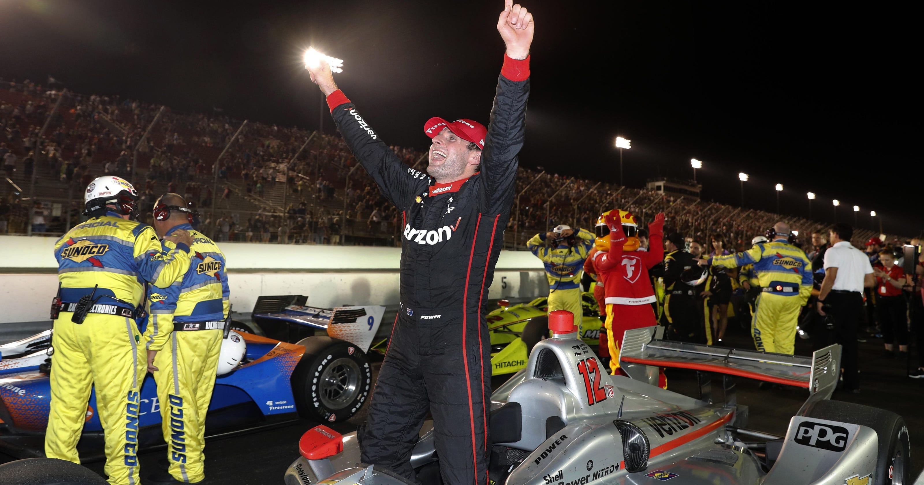 Saay S Motors Splash Of Gas Fuels To Indycar Win At Gateway