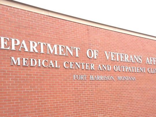 The sign outside the Fort Harrison VA Medical Center outside of Helena.