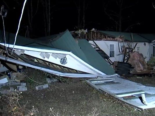 Severe storms slam Alabama