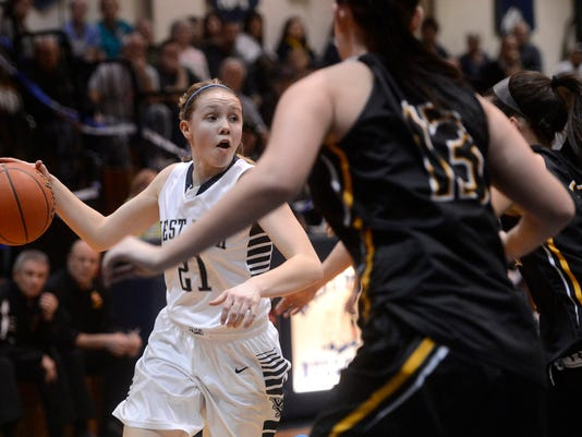 West York's Kari Lankford recently scored the 1,000th point of her high school basketball career. (Kate Penn -- Daily Record/Sunday News)
