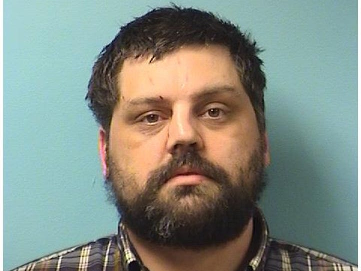 Aaron Edward Hinrichs, 36, was booked in Stearns County
