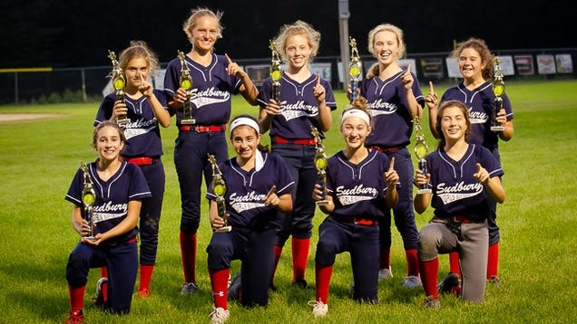 Jon Danielson and Mark Krasnow, not pictured, coached the U14 team to victory this summer. Pictured, front row: Julia Rydzewski, Sophie Jorjorian, Eliana Krasnow and Claire Gaeta. Top row: Ava Levine, Sarah Danielson, Ashleigh Lent, Alexa Deignan and Lucy Krauss. Not shown but also valued members of the summer team are Evelyn Schwartz, Caroline Grous and Maggie Twardowski.