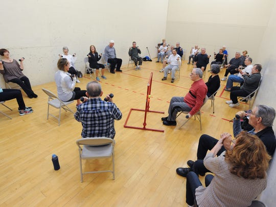 Parkinson's exercise class at Midway Fitness in Rehoboth Beach.