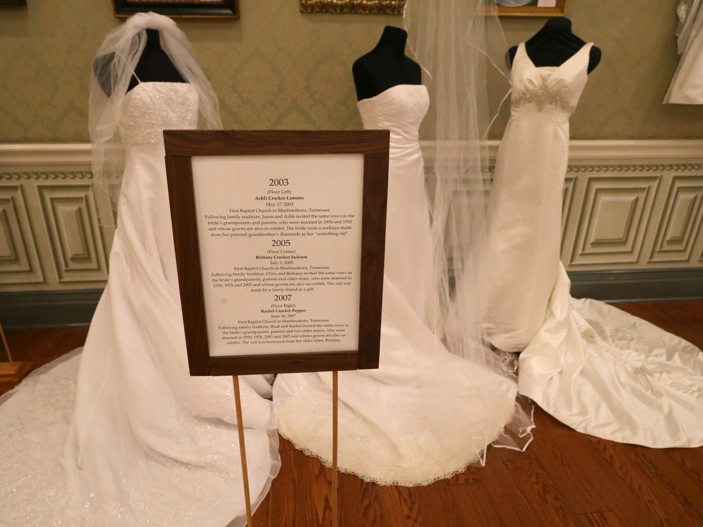 Oaklands Mansion continues to host the 'Wedding Dresses Through the Decades' exhibit.