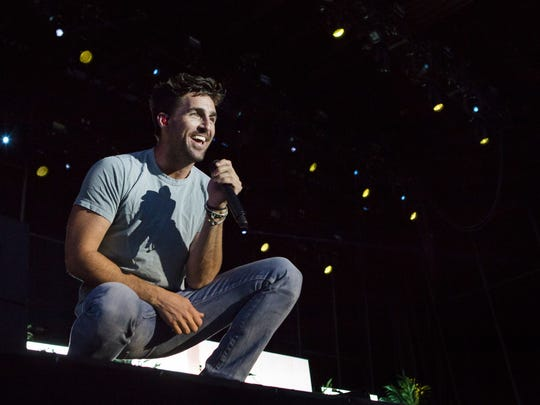 Jake Owen performs at the Big Barrel Country Music Festival in Dover last year.