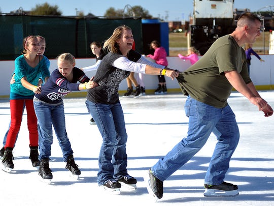 Take to the ice during Christmas Wonderland now through Jan. 6 at Mississippi Braves north parking lot across from Bass Pro Drive, Pearl