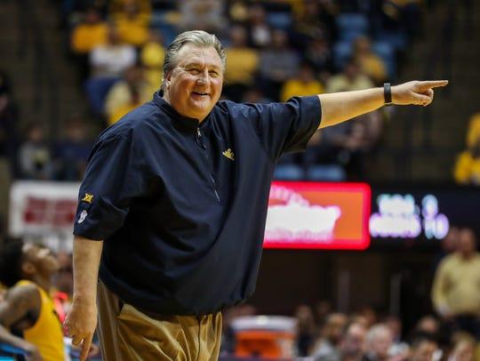 West Virginia Mountaineers head coach Bob Huggins.