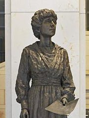 The two Montanans with statues in the U.S. Capitol are artist C.M. Russell and Congresswoman Jeannette Rankin, a contender for the new face of the $10.
