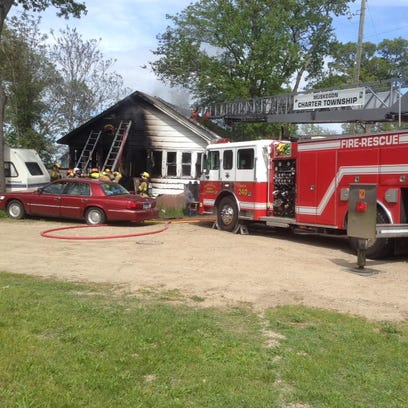 Firefighters responded to a house fire in the 100 block