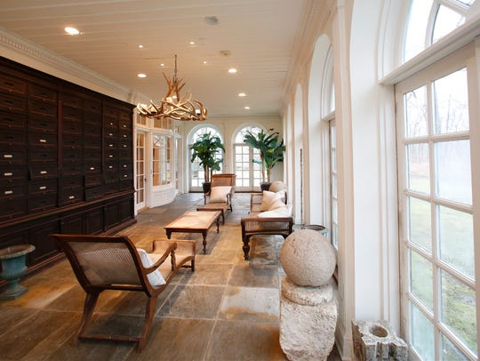 Southern facing sunroom at the Glencliff Estate on