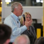 United States Senator Ron Johnson made his announcement Monday, May 2, 2016, that he is running for the U.S. Senate with his wife Jane at PACUR the manufacturing business which he started with his brother in 1979 in Oshkosh, WI.  About 200 people attended the invite only event.  He is running against Russ Feingold.