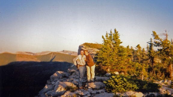Joe and Karen Taschler on the Continental Divide in northwest Montana.
