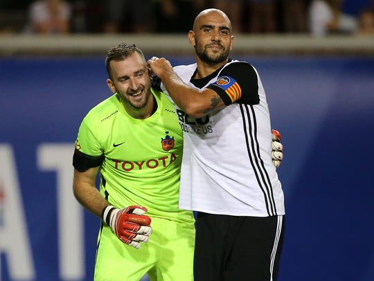 Valencia CF forward Simon Zaza (9) and FC Cincinnati