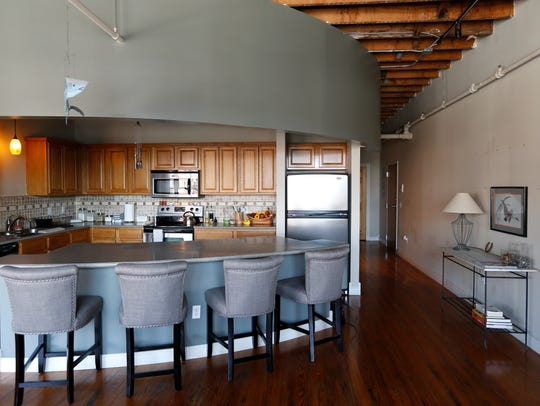 The loft of Gail Gudell in downtown Springfield on