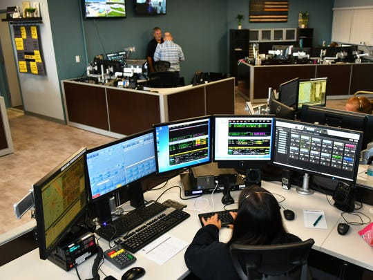 The newly refurbished and expanded 911 communications Room opened July 26 at Palm Bay Police Department.
