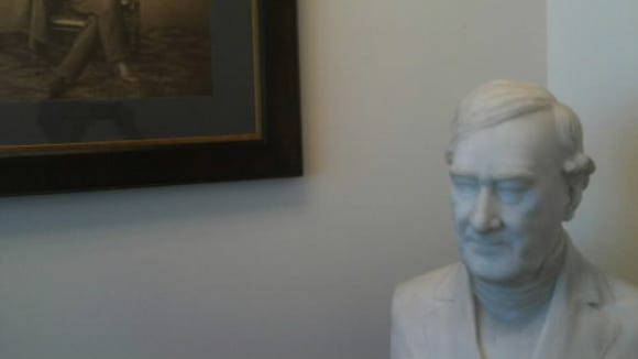 This bust of respected lawyer Jeremiah Sullivan Black is pictured in this 2010 photo in the law library at the York County Judicial Center. Black built the original Brockie Mansion in the hills south of York. He held two positions in the cabinet of U.S. President James Buchanan.