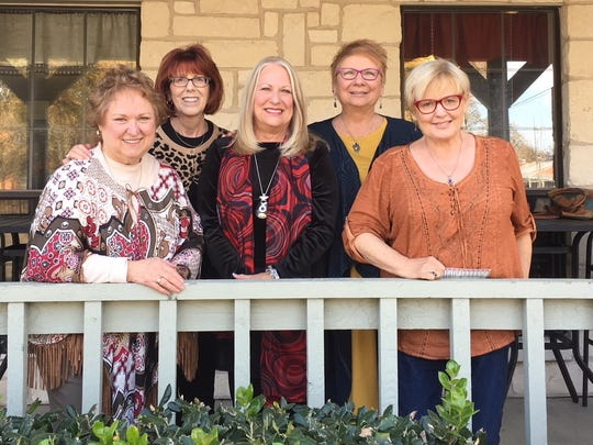 Five Abilene High School graduates who grew up together on Jefferson Street celebrate their friendship at their annual reunion. From left: Donna Shed Brown, Jan Weaver Hegg, Linda Battles Herron, Monica Strain Wommack and Dalene Copeland Bowles.