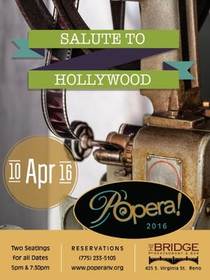 P'opera will give two performances at 5 and 7:30 p.m. Sunday at the Bridge Restaurant in Reno.