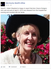 Gila County Sheriff's Office posted an update on Ann