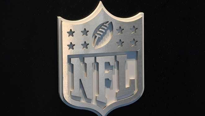 Apr 27, 2017; Philadelphia, PA, USA; NFL Shield logo at the 2017 NFL Draft at the Philadelphia Museum of Art. Mandatory Credit: Kirby Lee-USA TODAY Sports