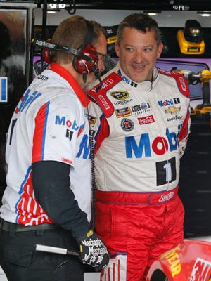 Tony Stewart, right, will be in the midstate this upcoming weekend as his Tony Stewart All-Star Circuit of Champions will race at local dirt tracks.