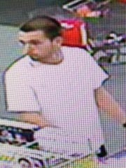 Suspect in an armed robbery at an East Naples pharmacy Wednesday, April 30.