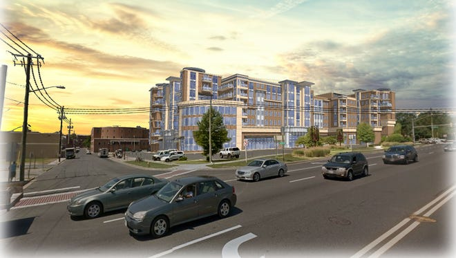 This architectural rendering shows how Parking Lot 10 in Salisbury will be redeveloped.