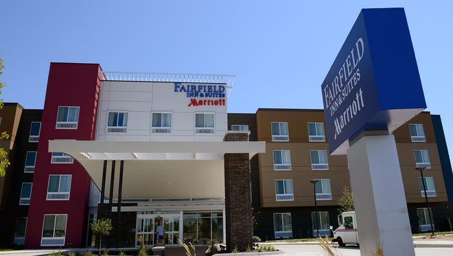 The Fairfield Inn & Suites, pictured Thursday, August 4, 2016, is now open at the Heights at Eastwood in Lansing Township. A Holiday Inn is planned nearby.