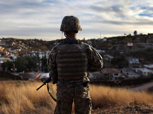 Arizona National Guard Assist U.S. Border Patrol To Monitor Vast Border With Mexico