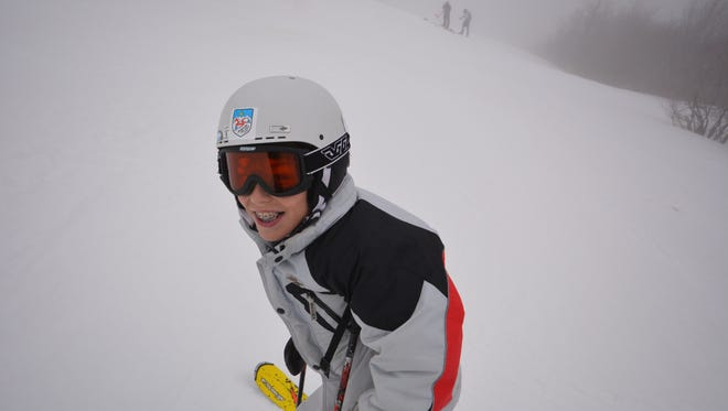 Michael Standstedt with the Asheville Ski Club placed first in the slalom race Saturday at Beech Mountain.