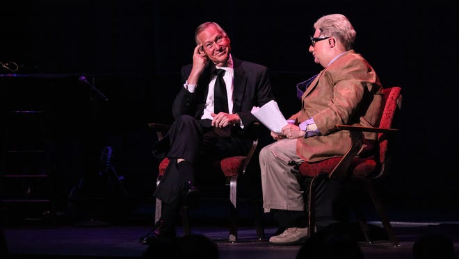 New Brunswick Mayor Jim Cahill, left, and comedian Martin Short, right, joke onstage at the State Theatre during an April 30 gala that raised nearly $600,000 for nonprofit performing arts center.