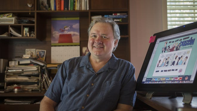 """Nationally acclaimed cartoonist Jeff Parker will begin syndicating his comic strip """"Dustin"""" in the Tallahassee Democrat on Sunday, July 17, 2016."""
