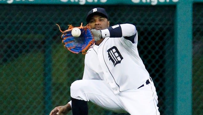 Tigers leftfielder Rajai Davis