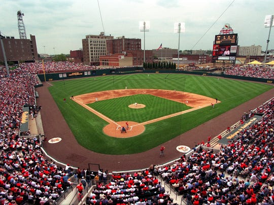 April 1, 2000 - Autozone Park on opening day April 1, 2000. The Redbirds played the St. Louis Cardinals.