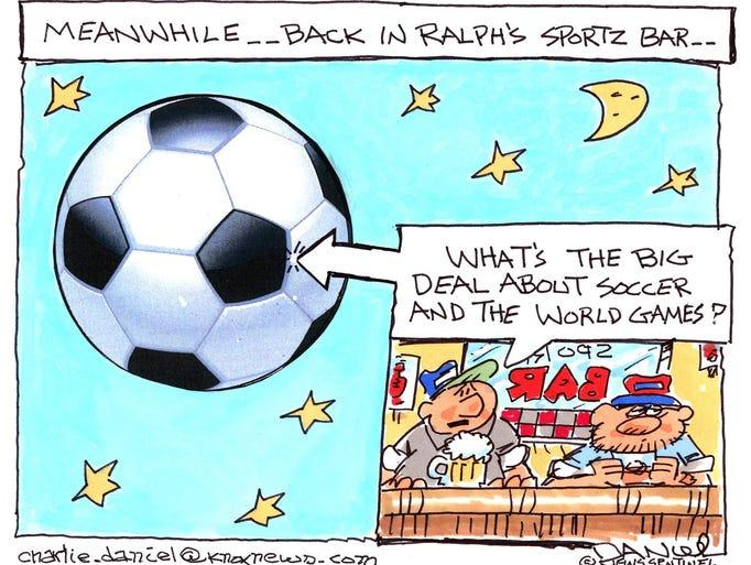 Charlie Daniel cartoon for June 18, 2018