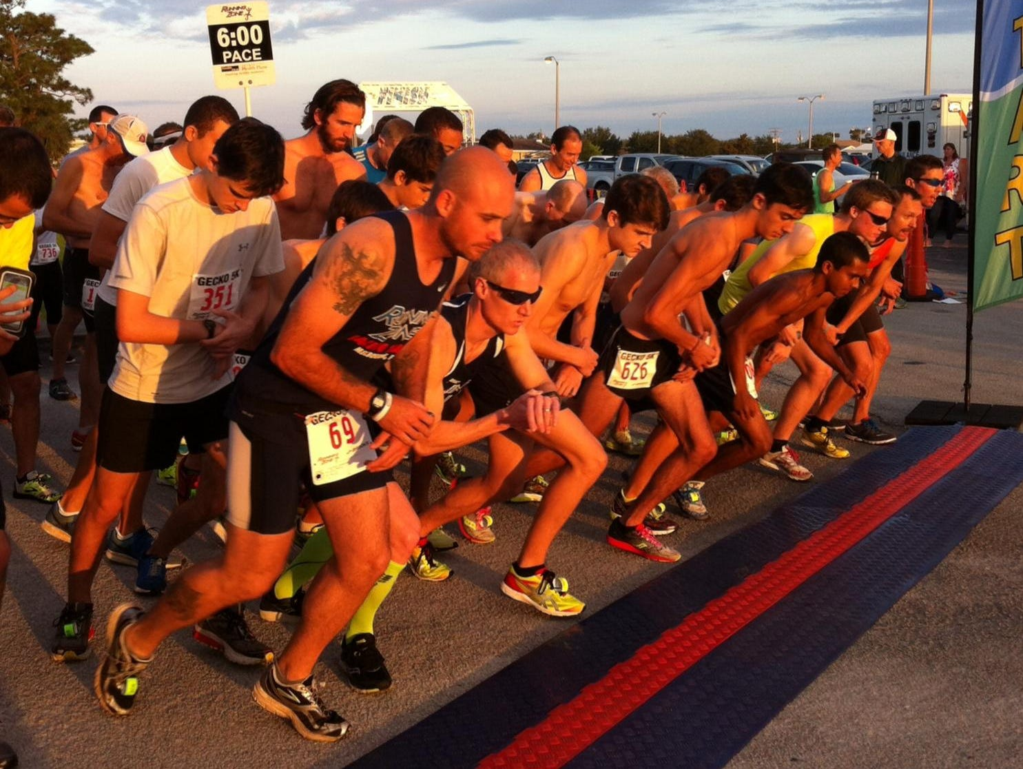 Runners get ready to start the 2015 Run for the Gecko 5K in Melbourne.