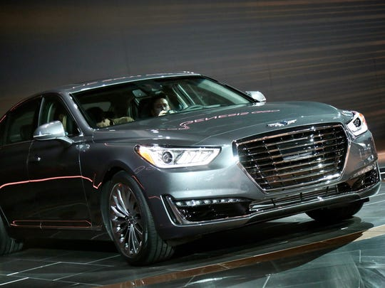 Hyundai unveiled the 2017 Genesis G90 during the 2016 North American International Auto Show held at Cobo Center in downtown Detroit on Monday, Jan. 11, 2016. Salwan Georges/Special to the Free Press